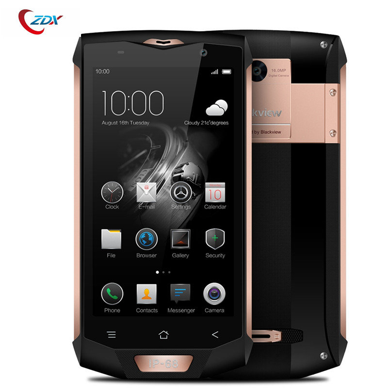 "bilder für Blackview BV8000 Pro 4G Handy 6G RAM 64G ROM 5,0 ""FHD MTK6757V Octa Core IP68 Wasserdicht 16MP Fingerabdruck smartphone"