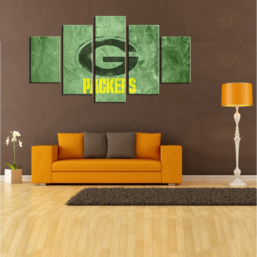 Hot Green Bay Packers Logo Wall Art Stickers American Football Team Bedroom  Wall Art Above Bed Part 49