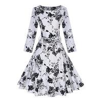 Sisjuly Autumn Female Vintage Dresses Party Dress White Bowknot Dress Full Sleeve O Neck Empire Waist
