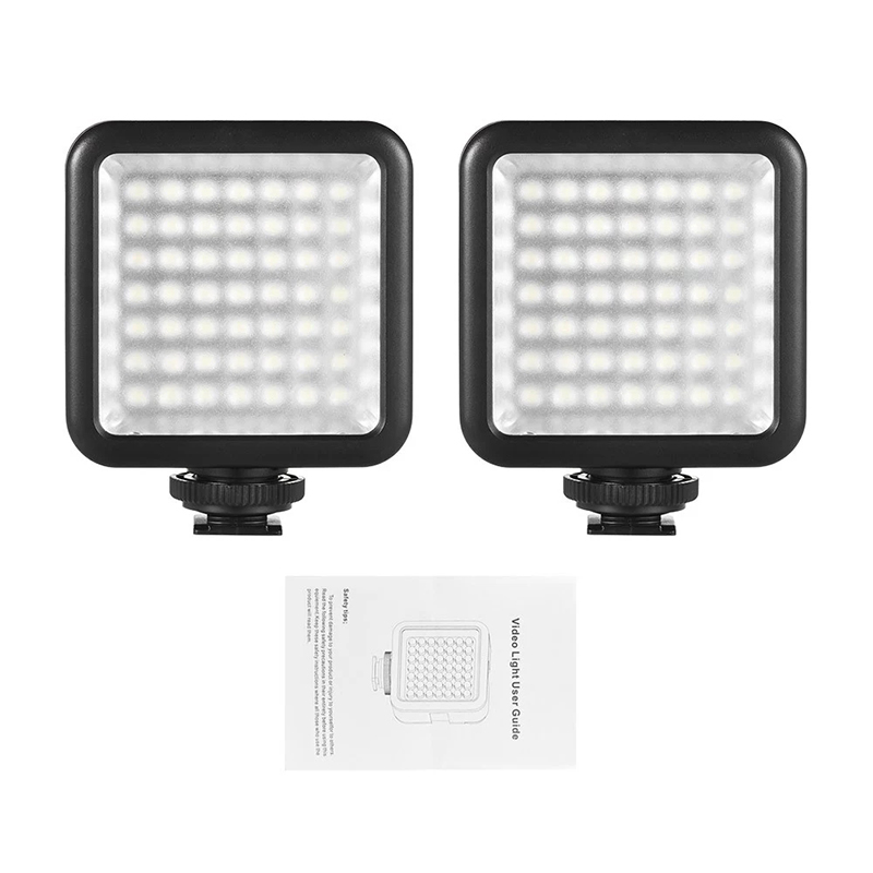 Mini Videocámara Portátil 15W LED Luz Foto Video Luces Para Cámara Canon Nikon
