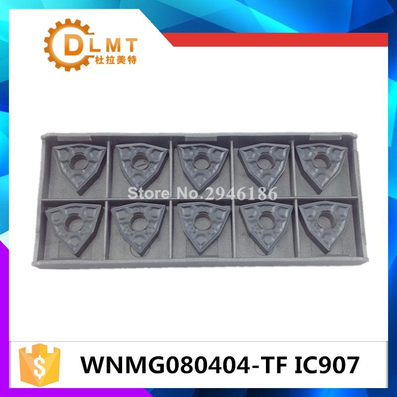 10PCS Iscar WNMG080404-TF IC907 Insertos de carburo cementado Herramienta de torno de cuchilla CNC
