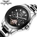 Brand GUANQIN Watch Men Ceramic Watch Waterproof 30m Mechanical Watches Luxury Brand Men's Big Dial Designer Male Wristwatches