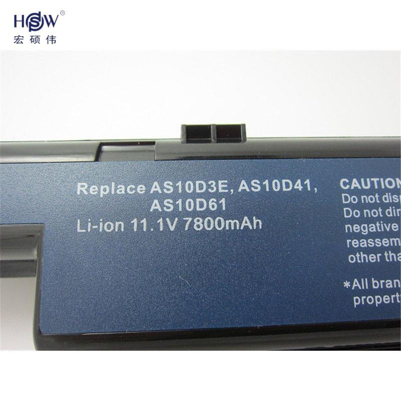 HSW 7800MAH Laptop Battery For Acer Aspire 5736ZG 5741 5741G 5741Z 5741ZG 5742 5742G 5742Z 5742ZG 5750 5750G 5750TG 5750Z 5750ZG in Laptop Batteries from Computer Office