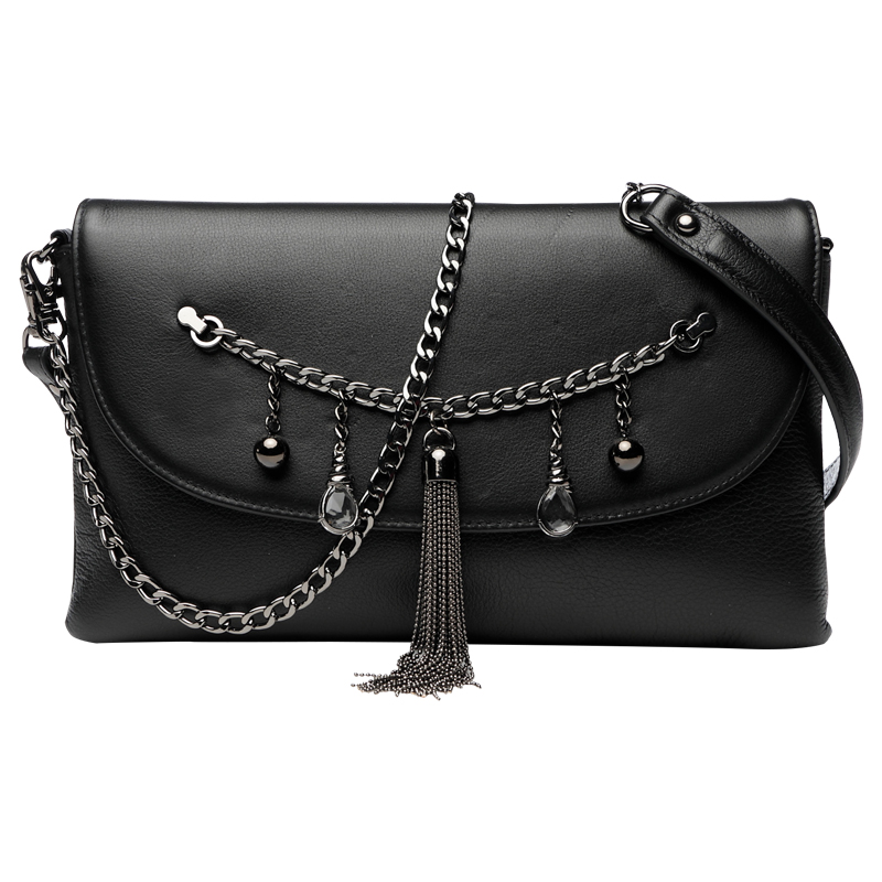 Lady Diamonds Tassel Banquet Hand Clutch Bag Woman Banquet Clutches Wallet Genuine Leather Purse Shoulder Envelope Bag Wristlet cowhide genuine leather diamonds lady hand bag small shoulder envelope messenger women clutch bag luxury banquet lady chain bags