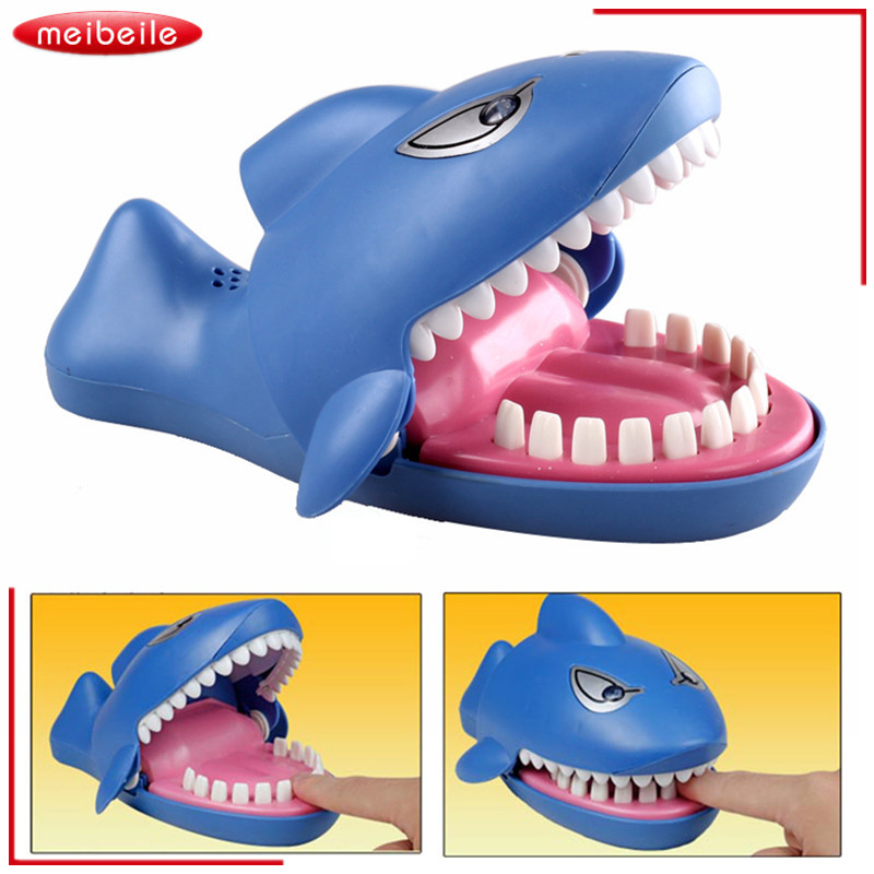 22*13*11cm New Cute Large Size Classic Tooth Smart Shark Mouth Dentist Bite Finger Game Funny Toy