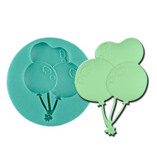 Silicone DIY 3D Air Balloon Mold Fondant Chocolate Cake Decorating Mold Silicone Baking Tools diy 3d beatiulty flower silicone fondant mold sugar craft cake decorating embossing mold bakery baking tools