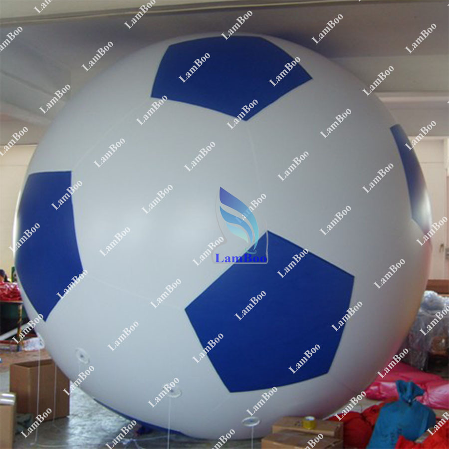 Blue 2m Inflatable Football Helium Balloon for EventsFREE Shipping