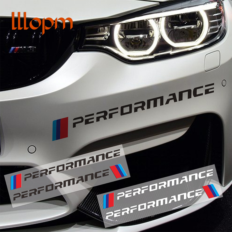 2PC Car Front Sticker Front Bumper Sticker And Decals For bmw e90 e46 e39 e60 f30 f10 f34 x3 x4 x5 e70 f15 x6 M3 M5 Car Styling hot sale 1pc longhorn hilux 900mm graphic vinyl sticker for toyota hilux decals badges detailing sticker car styling accessories