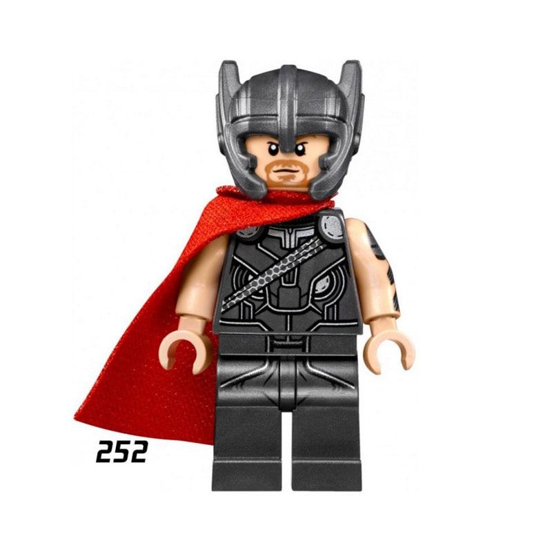 Single Sale Super Heroes Star Wars 252 Thor Model Mini Building Blocks Figure Bricks Toys Kids Gifts Compatible Legoed Ninjaed