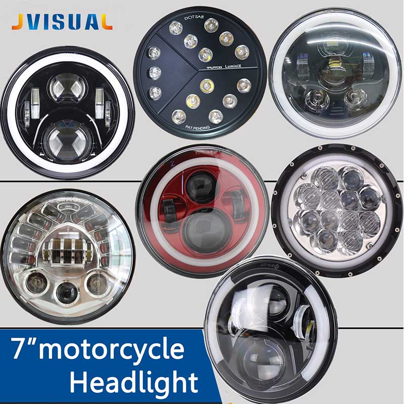 For lada niva 4x4 7Inch Round Led Headlight Halo Ring Angel Eye Projector Headlamp For Jeep