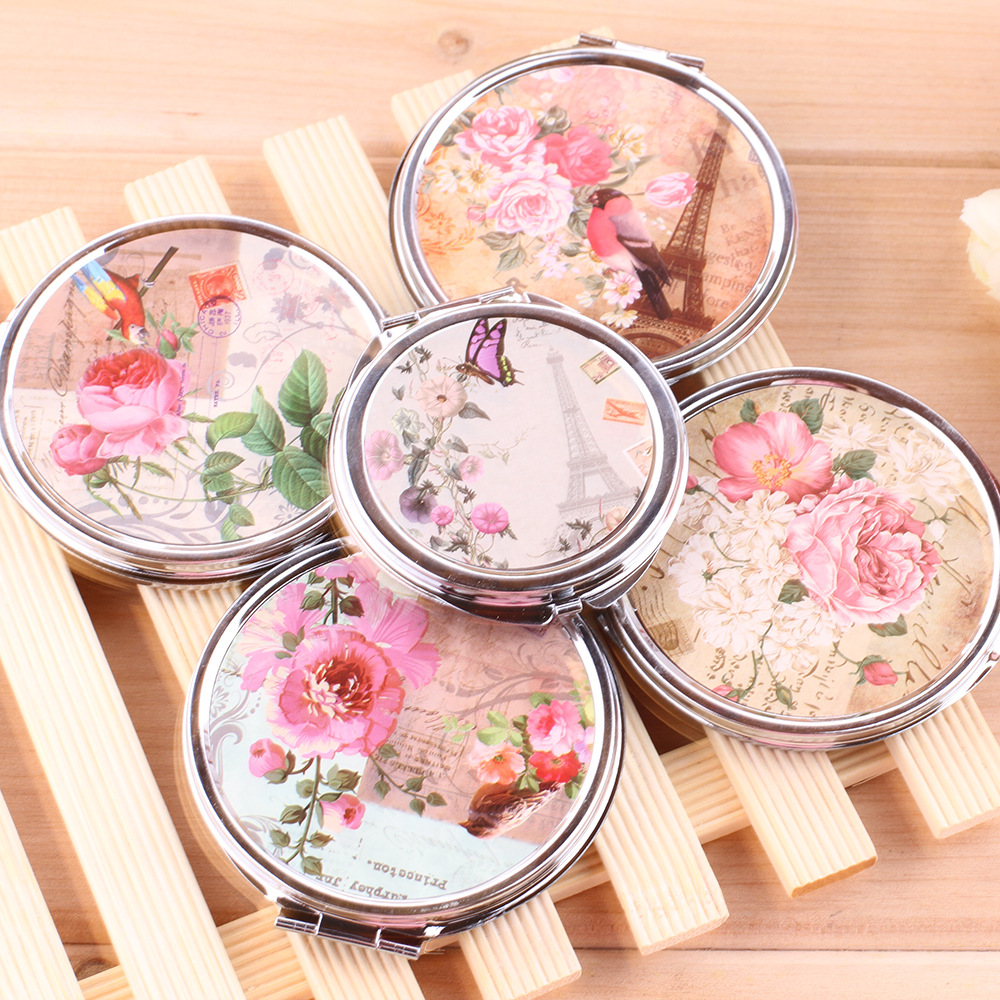 European style stainless steel pocket makeup mirror two sided european style stainless steel pocket makeup mirror two sided cosmetic mirror butterfly flower beauty mirror freeshipping in makeup mirrors from beauty izmirmasajfo