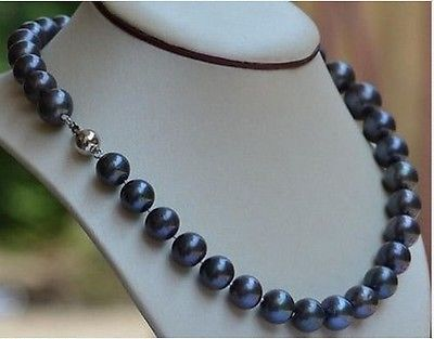 FREE SHIPPING HOT sell new Style >>>>natural 10-11mm black blue akoya pearl necklace 17inch цена и фото