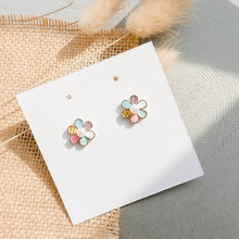 Fashion Jewelry Cute Flower Stud Earrings Small Fresh Student Temperament Female Elegant Wholesale