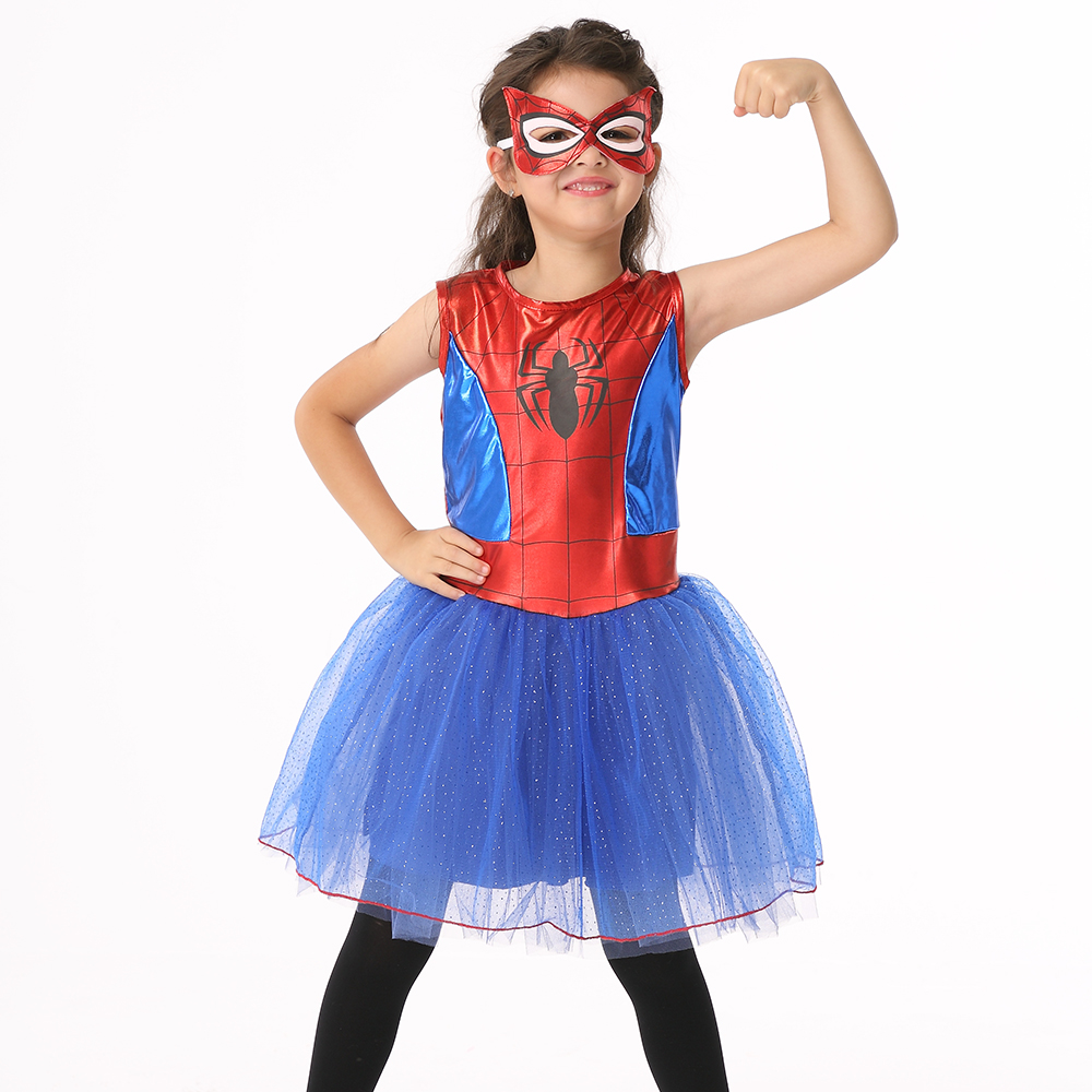 Super Hero Spider Girl Costumes Children Spiderman Cosplay Dance Dress Costume for Kids Halloween Fancy Masquerade Party Clothes halloween costumes for children boys kids cosplay costume fantasia disfraces game uniforms kids clothes set