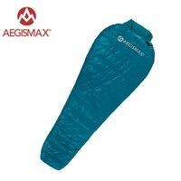 Aegismax Nano Sleeping Bag 95% White Goose Down Splicing Mummy Sleeping Bags Ultralight Portable Outdoor Hiking Camping 700 FP