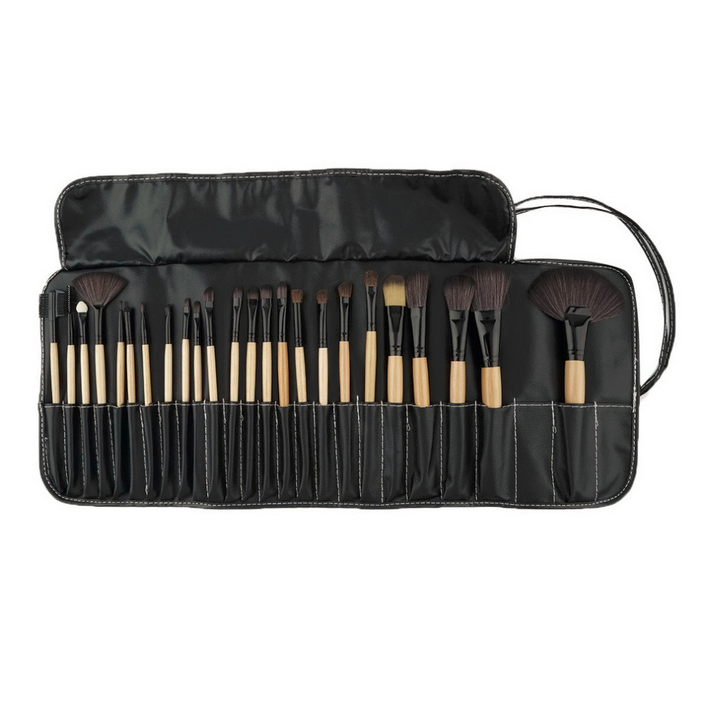 Professional 24 pcs Makeup Brush Set tools Make-up Toiletry Kit Wool Brand Make Up goat hair Brushes Set pinceaux maquillage 147 pcs portable professional watch repair tool kit set solid hammer spring bar remover watchmaker tools watch adjustment