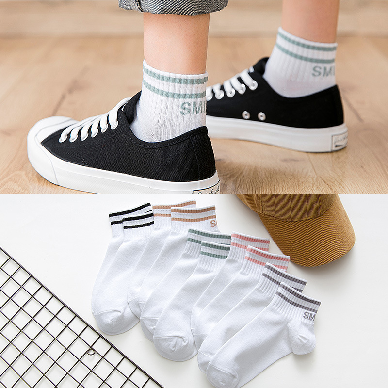 Invisible Short Woman Sweat Summer Comfortable Cotton Girl Women's Boat Socks Ankle Low  1pair=2pcs Ws177