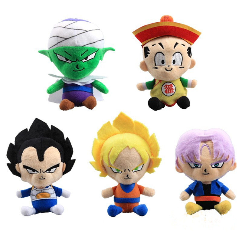 Skyleshine 5pcs/set Dragon Ball Mini Plush Toys Son Goku Mumia <font><b>Sayajins</b></font> Stuffed Doll High Quality Baby Toys#ML0213 image