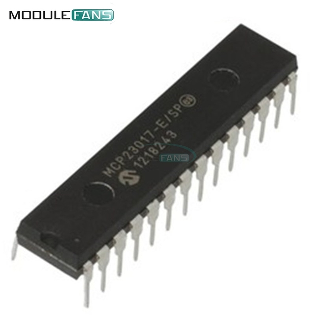 5PCS MCP23017-E/SP DIP-28 MCP23017 16-Bit I/O Expander with I2C Interface IC