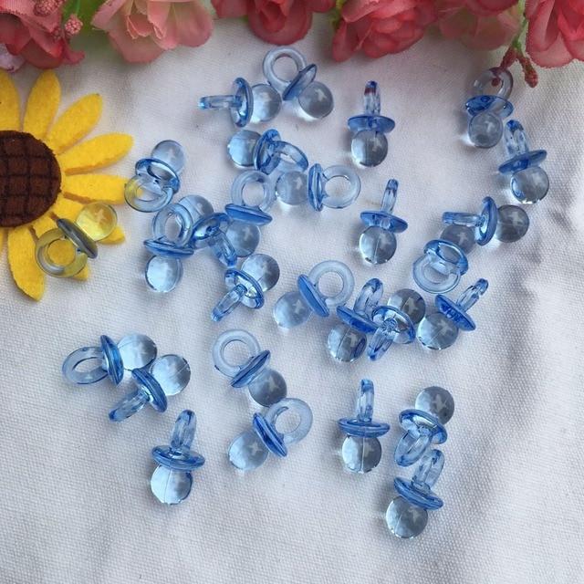 20pcs Lot Lovely Baby Shower Decoration Clear Milk Bottle Confetti