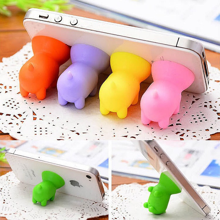 2019 Cute Cartoon Suction Cup Mini Pig Mobile Phone Holder Stand For Iphone Xiaomi  Universal Phone Mount Random Color
