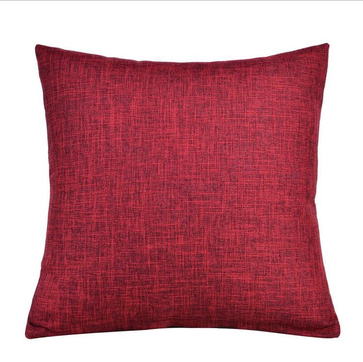 Fyjafon 2pcs Pillowcase Cotton Linen Pillow Cover Pillow Cases Home Decor Pillow Case Hotel Pillowcase Cover 45x45/50x50/60x60