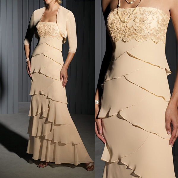 M675 Modern Chiffon Mother Of The Bride Dresses With