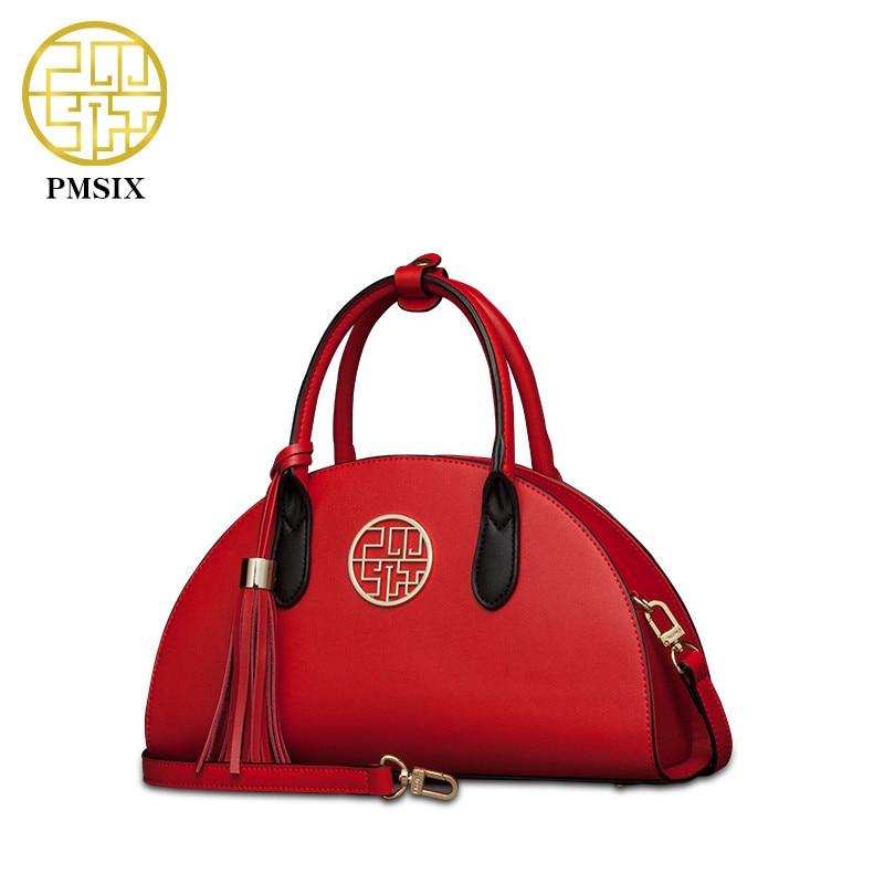 Pmsix nuevo bolso de hombro de las mujeres de cuero de Split bolso de - Bolsos