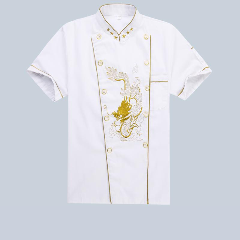 Hotel Chef Work Clothes Chinese Style Uniform Restaurante Thicken Autumn Winter Embroidered Dragon Coat Uniforms Shirts Male