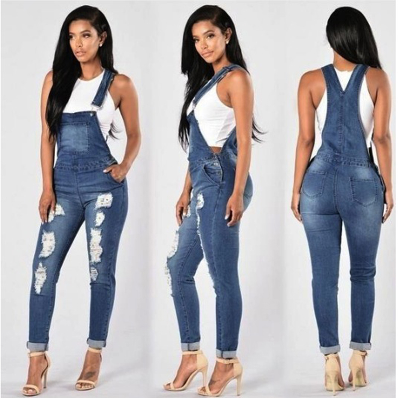 HOT cute overall Jeans Mujer Basic Classic High Waist