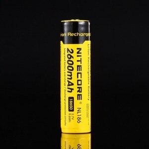 Image 3 - Ban Đầu Nitecore NL1826 2600MAh 18650 3.7V Max 2A 18650 Pin Sạc Li ion (NL186) Cho Đèn LED