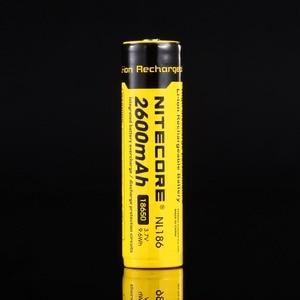 Image 3 - Original Nitecore NL1826 2600mAh 18650 3.7V Max 2A 18650 Rechargeable Li ion battery (NL186) for LED Flashlight
