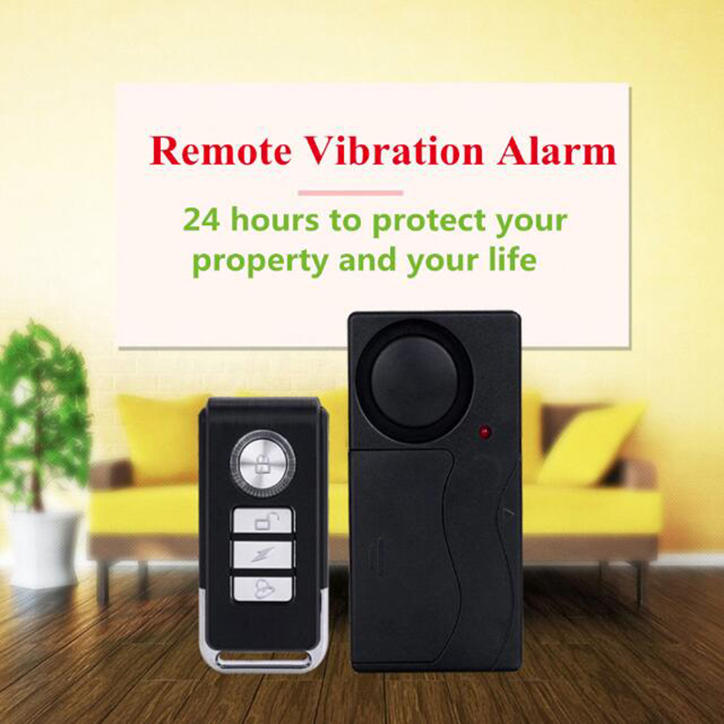 Home Security Wireless Remote Control Vibration Motorcycle Bike Door Window Detector Burglar Alarm Smart Home Security