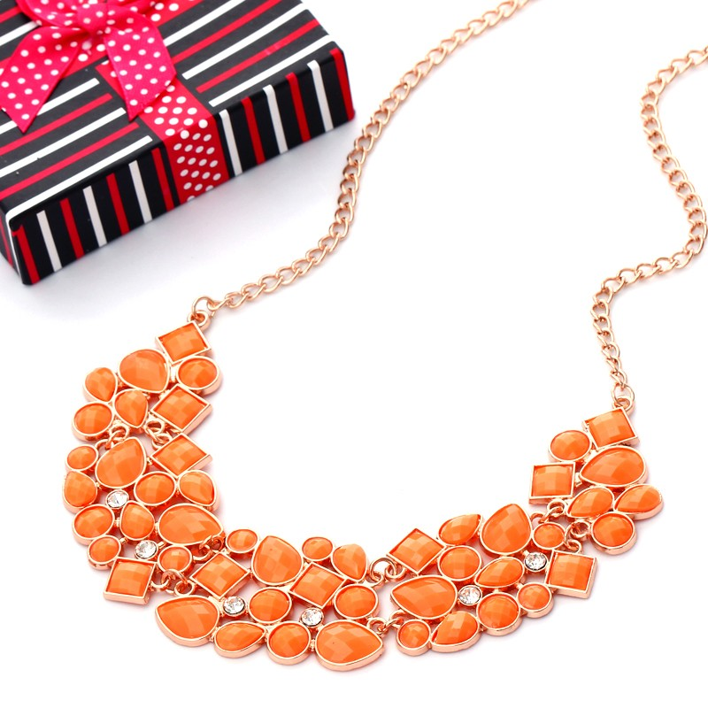 2eecc61585 US $1.95 35% OFF|Hesiod Statement Necklaces Collares Gold Color Black  Colorful Enamel Maxi Choker Necklaces For Women-in Choker Necklaces from  Jewelry ...