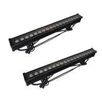 2Pcs/lots 18x10W RGBW 4in1 LED Bar Wall Wash Lights IP65 Waterproof LED Flood Lights Dj Bar Xmas Show Lights Stage Lighting
