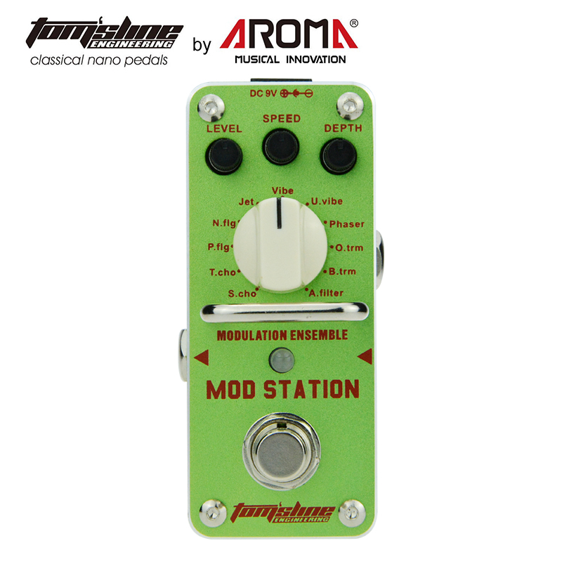 AROMA Aroma AMS-3 Mod Station Modulation Ensemble Electric Guitar Effect Pedal Mini Single Effect with True Bypass aroma aov 3 ocean verb digital reverb electric guitar effect pedal mini single effect with true bypass guitar parts