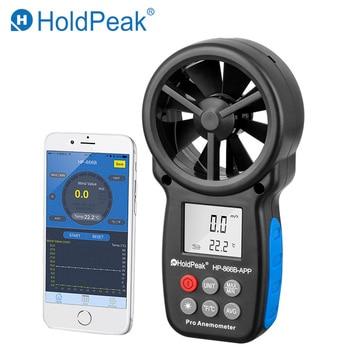 HoldPeak HP-866B-APP 0,3 ~ 30 Mt/s Digital-Anemometer Mit Mobile APP Wind Geschwindigkeit Meter Misst Temperatur Wind Chill Hintergrundbeleuchtung