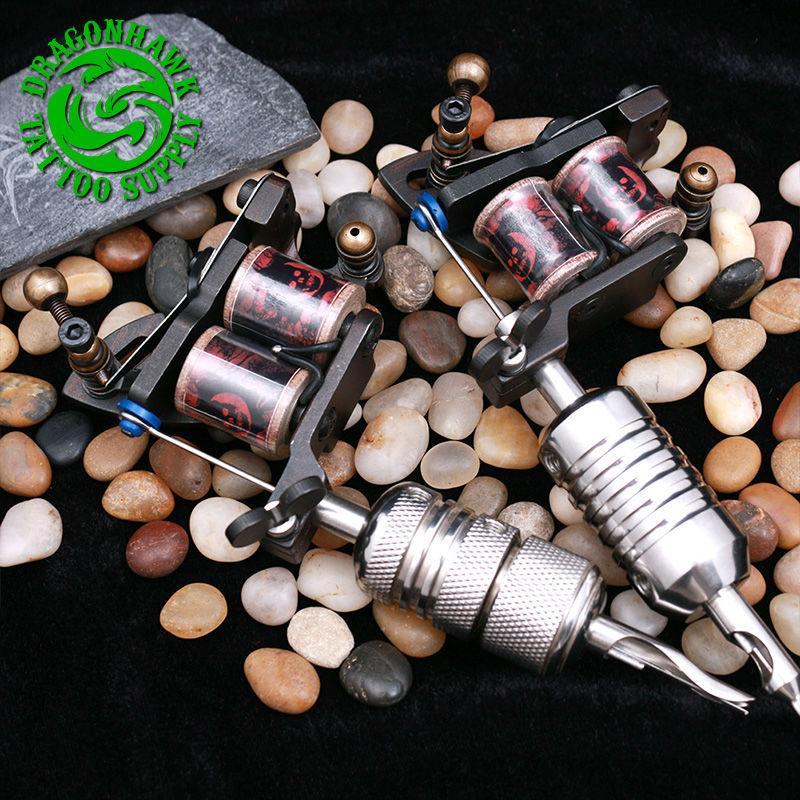 2pcs profesjonelle tatoveringspistoler kompass tattoo maskin liner og - Tatovering og kroppskunst - Bilde 5