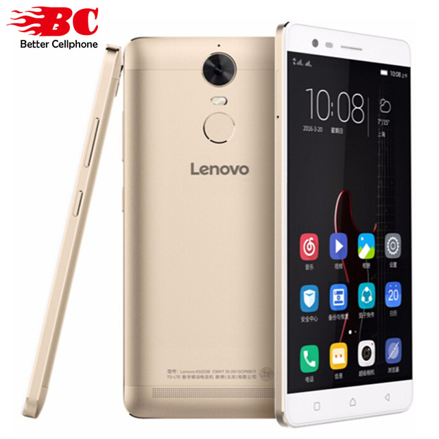 "Original Lenovo Lemon K5 Note 5.5"" 1920x1080 Android 6.0 Mobile Phone MTK Helio P10 Octa Core 64bit 1.8GHz 3GB+32GB 13MP 3500mAh"