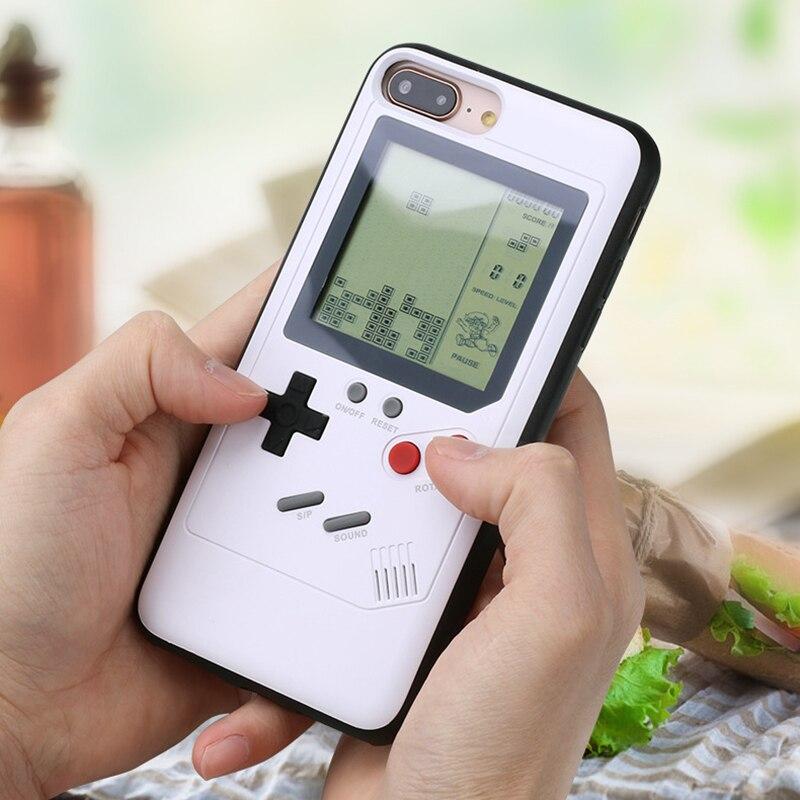 Ninetendo Tetris Game Boy Caso de Telefone Para o iphone 6 6 s Mais Caso Borda Suave Game Console tampa Traseira Para o iphone X 7 8 Mais caso