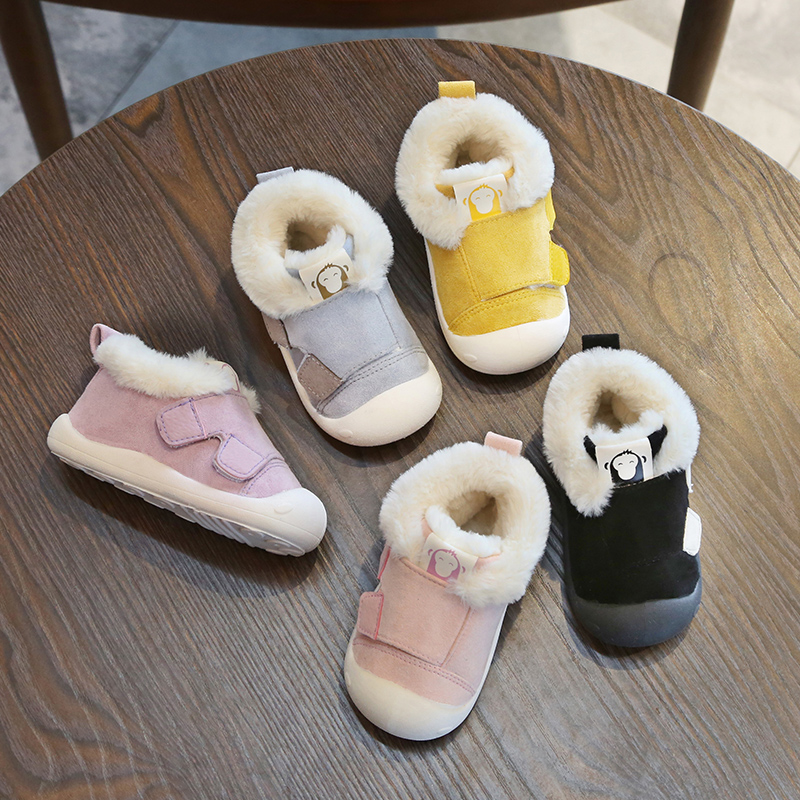 2018 Winter Infant Toddler Boots Thickening Plush Baby Girl Boy Snow Boots Outdoor Soft Bottom Non