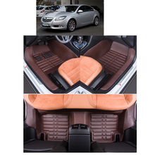 fast shipping  leather car floor mats for opel insignia regal 2008 2009 2010 2011 2012 2013 2014 2015 2016 2017