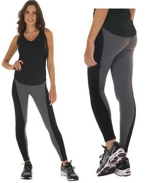 Women's Sport Pants Patchwork High Waisted Stretched