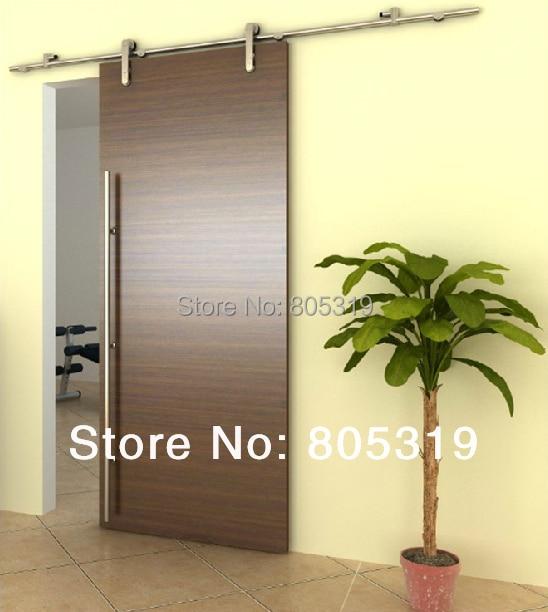 Stainless Steel Modern Interior Sliding Barn Wood Door Kit