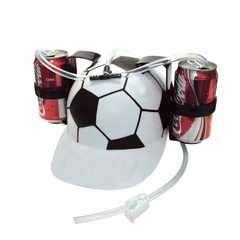 Beverage Holder Helmet Drinking Straws Plastic Handfree Beer Drinking Hat Lazy Helmet Party Favors for Kids Birthday Gifts J2Y
