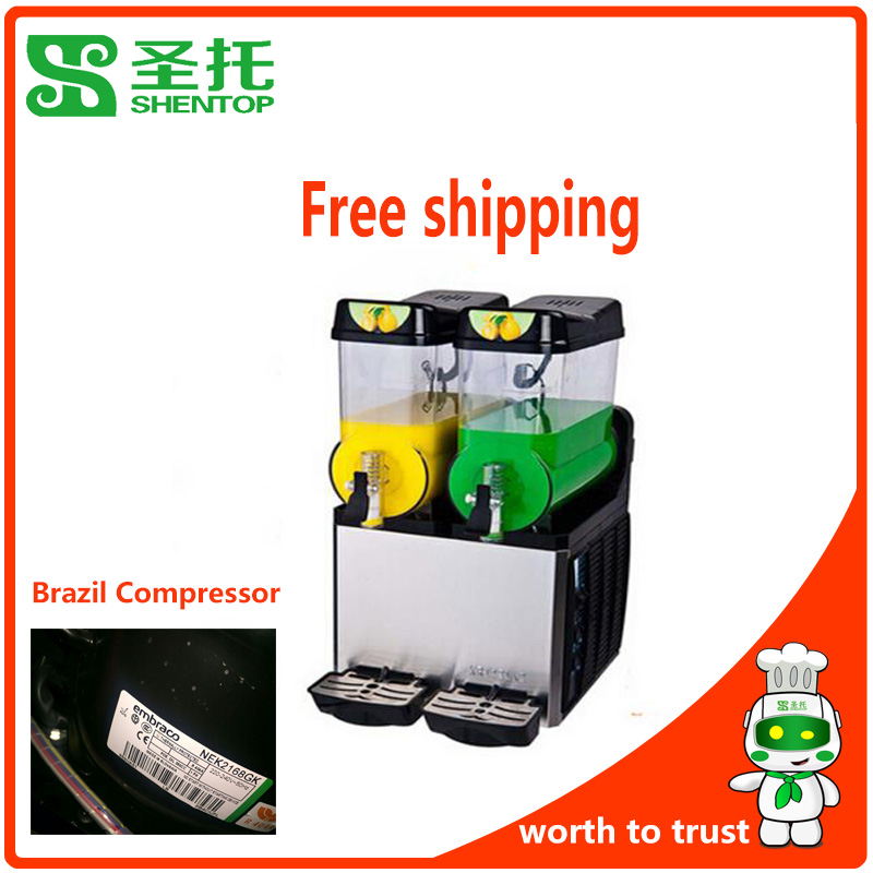 hentop STXR12-J2 ice frozen ice slush machine compressor double tank ice slush machine for free shipping