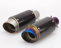 36 51mm universal motorcycle exhaust muffler with DB killer carbon fiber for Z900 ER6N GSXR750R KTM390 R3 BN600 NK650