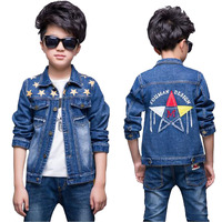 Baby Boys Outwear Clothes Kids Casual Jeans Jacket Cowboys Clothes Children S Fashion Long Sleeved Cotton