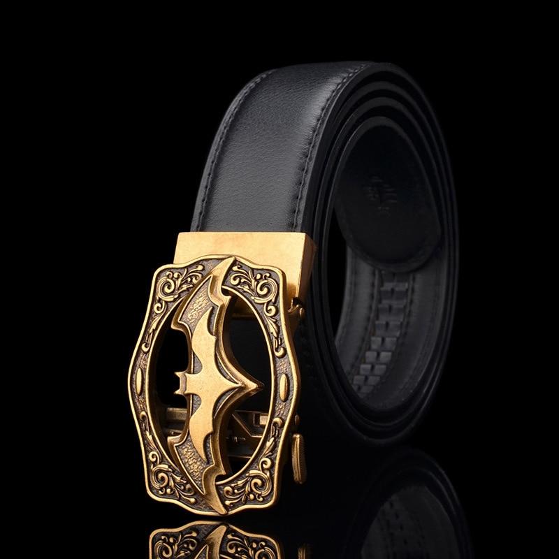 KWD Designer   Belts   for Men's 2019 Luxury Fashion Bat Batman Automatic Buckle   Belt   Genuine Leather Kemer for Jeans Riem Cinto