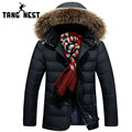 TANGNEST 2017 Hot Sale Parka Men Fashion Winter Jacket Men Hooded Hat Detachable Casual Warm Good Quality Men Jacket MWM1581
